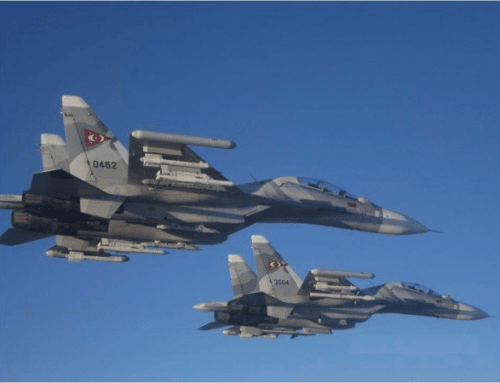 Su-30Mk2 intercepts EP-3 over international waters